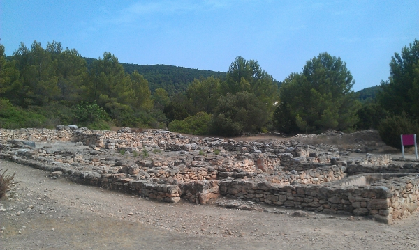 The ruins at Ses Paises de Cala d'Hort, Ibiza
