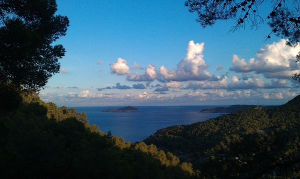 The view from Es Cuieram Punic Sanctuary, Ibiza