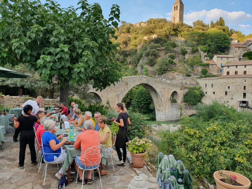 Hannibal Bike Tour Olargues Dinner Cycling
