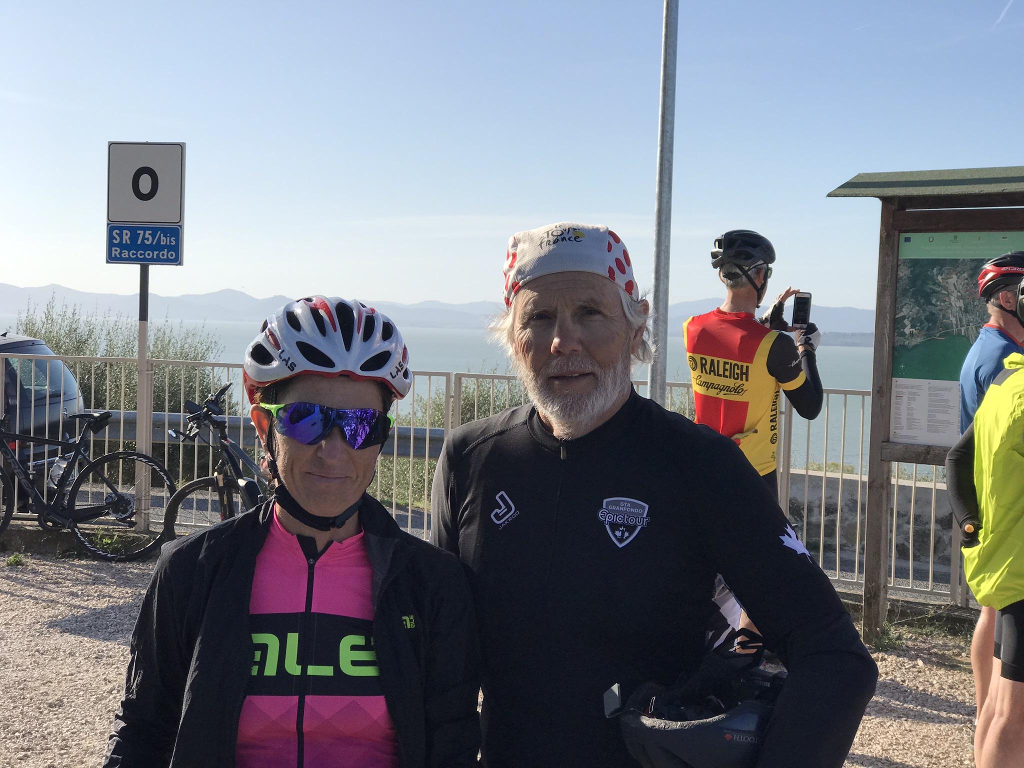 Charlie and Fabiana Luperini bike tour Hannibal
