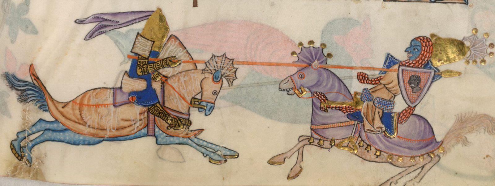 Richard I and Saladin jousting - Bike Odyssey Cycle Tours