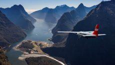 New Zealand Bike Tour South Island Escape flight into Milford Sound