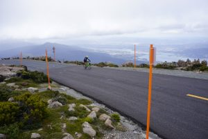 Mount Wellington Kunanyi Cycling Climb Tasmania top